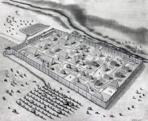 drawing of 1634 st marys fort
